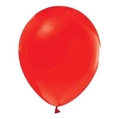 Kırmızı Metalik Balon 12 inç (25x30 cm) 20'li Paket