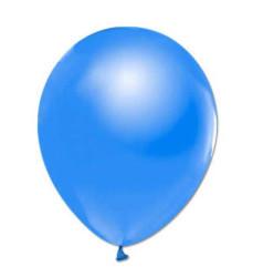 - İnci Mavi Metalik Balon 12 inç (25x30 cm) 100'lü Paket