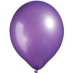- Mor Metalik Balon 12 inç (25x30 cm) 100'lü Paket