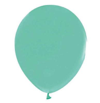 Su Yeşili Metalik Balon 12 inç (25x30 cm) 100'lü Paket