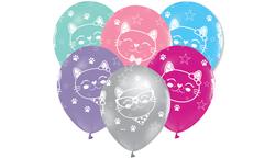 - Balon Mıss Cat Çepeçevre Baskılı Pk:100 Kl:50
