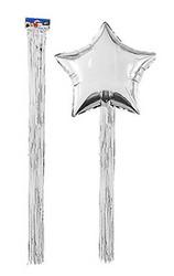 - Balon Püskülü Metalize Yapışkanlı 4 Lü Set 90 Cm Gümüş Pk:4 Kl:200