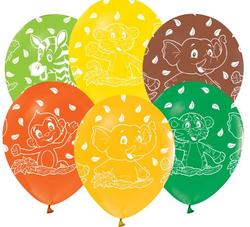 - Balon Safari Çepeçevre Baskılı Pk:100 Kl:50