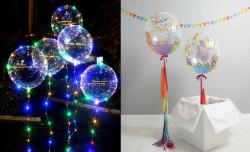 - Şeffaf Bobo Balon 24 inç (60x60 cm) 50'li Paket