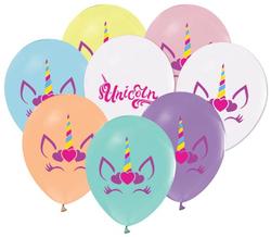 - Balon Unıcorn Kalpli Pastel Pk:100 Kl:50