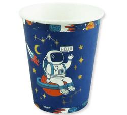- Bardak Astronot Uzay Karton 8oz Pk:8 Kl:100