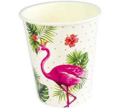 - Bardak Flamingo Taçlı Karton 8oz Pk:8 Kl:100