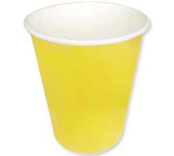 - Bardak Karton 8 Oz Düz Sarı Pk:8 Kl:100