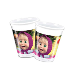 - Masha And The Bear Plastik Bardak (200 cc) 8'li Paket