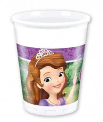 - Sofia The First Plastik Bardak (200 cc) 8'li Paket