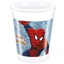 - Spiderman Web Warriors Plastik Bardak (200 cc) 8'li Paket