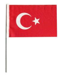 - Türk Bayrağı Kumaş Çubuklu 20x30cm