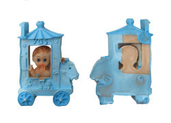 Erkek Bebek Faytonda Mavi Biblo - Thumbnail