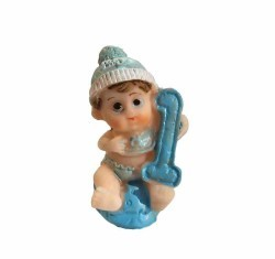 1 Yaş Bebek Mavi Biblo - Thumbnail