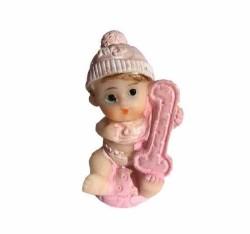 - 1 Yaş Bebek Pembe Biblo