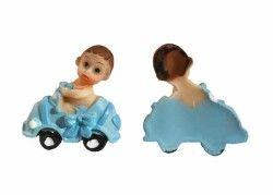 Erkek Bebek Arabada Mavi Biblo