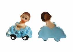Erkek Bebek Arabada Mavi Biblo - Thumbnail