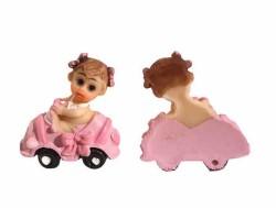 - Kız Bebek Arabada Pembe Biblo