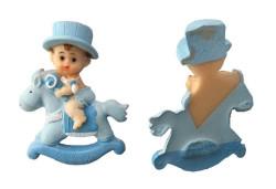 - Atlı Bebek Mavi Biblo