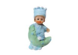 Ay Dede Üstünde Bebek Mavi Biblo - Thumbnail