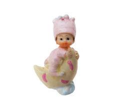 Ay Dede Üstünde Bebek Pembe Biblo