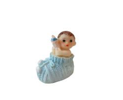 - Ayakabı İçinde Bebek Mavi Biblo