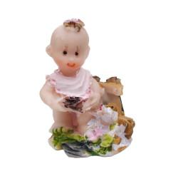 - Bahçede Bebek Pembe Mavi Biblo
