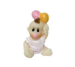 Balonlu Bebek Pembe Biblo