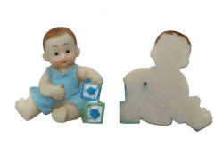 Oyuncaklı Bebek Mavi Biblo - Thumbnail