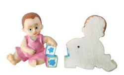 - Fiyonklu Bebek Pembe Biblo