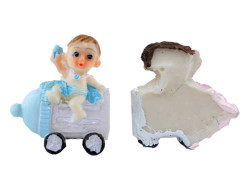 Biberonlu Bebek Mavi Biblo - Thumbnail