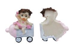 Biberonlu Bebek Pembe Biblo - Thumbnail