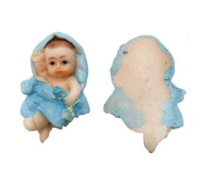 Bornozlu Bebek Mavi Biblo