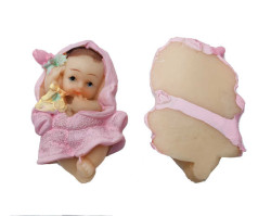 Bornozlu Bebek Pembe Biblo - Thumbnail