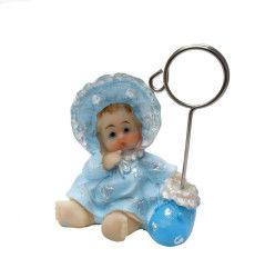 Bornozlu Bebek Notluk Mavi Biblo