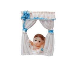 Camdan Bakan Bebek Mavi Biblo - Thumbnail