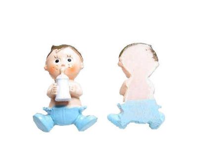 Çilli Ve Biberonlu Bebek Mavi Biblo