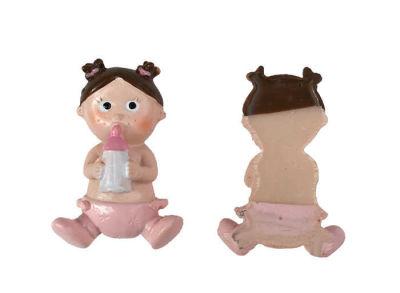 Çilli Ve Biberonlu Bebek Pembe Biblo