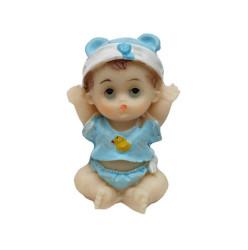 - Civcivli Ve Şapkalı Bebek Mavi Biblo