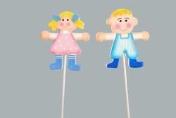 Çubuklu Bebek Pembe - Thumbnail