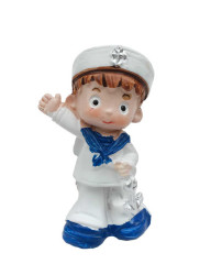 - Denizci Çapalı Büyük Bebek Mavi Biblo