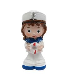 - Denizci Çapalı Büyük Bebek Pembe Biblo
