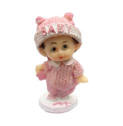 - Simli Elbiseli Bebek Pembe Biblo