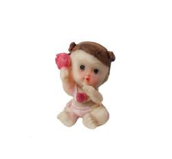 - Çıngıraklı Bebek Pembe Biblo