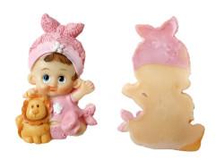 - Aslanlı Bebek Pembe Biblo