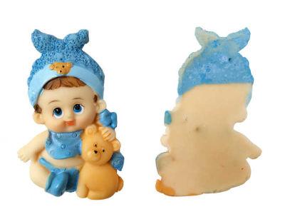 Ayıcıklı Bebek Mavi Biblo