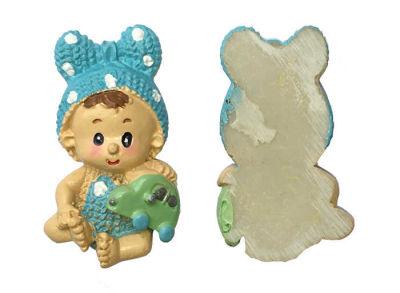 Fiyonklu Bebek Mavi Biblo