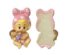 Fiyonklu Bebek Pembe Biblo - Thumbnail