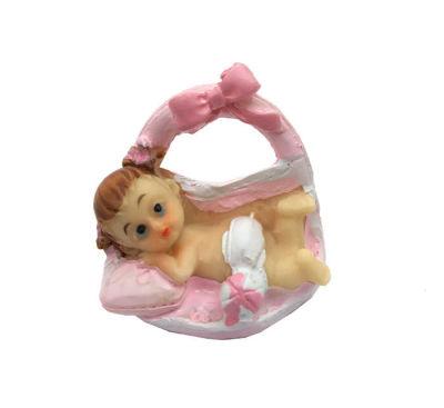 Fiyonklu Bebek Pembe Biblo