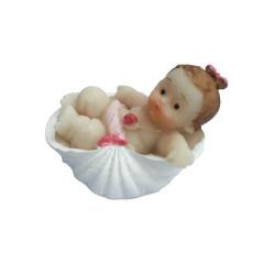 - İstiridye İçinde Bebek Pembe Biblo 50 Adet